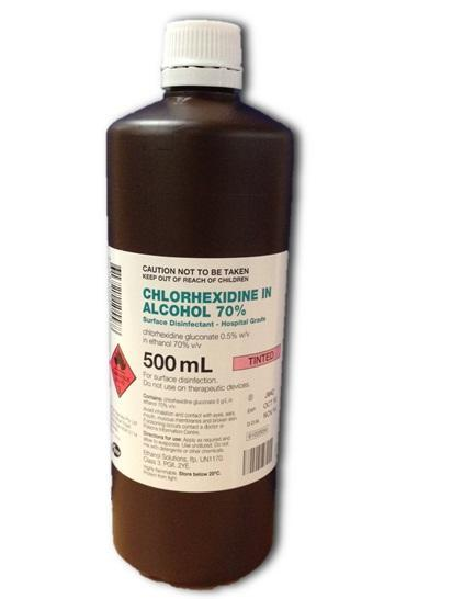 Chlorhexidine 0.5% In 70% Alcohol 500ml