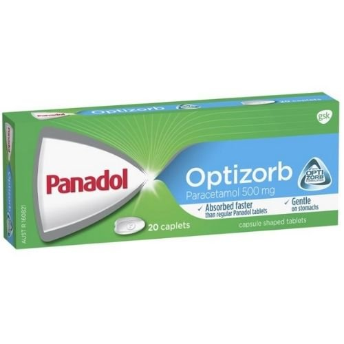 Panadol Optizorb Caplets - Pack 20