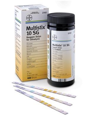 MULTISTIX 10sg - 100 STRIPS