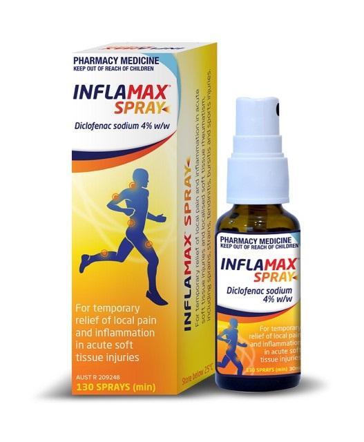 Inflamax Spray Diclofenac 4% 30ml - 130 Sprays