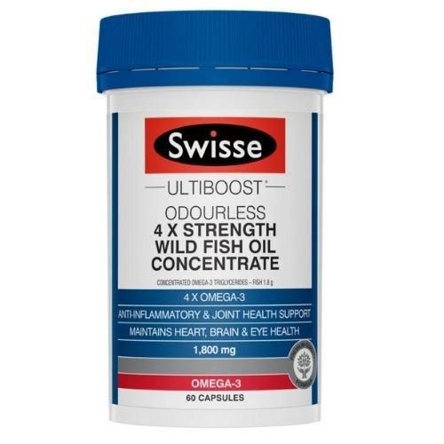 Swisse Ultiboost 4X Strength Wild Fish Oil Capsules - Pack 60