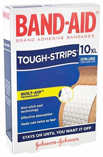 Band-Aid Tough Strips Extra Large - Box 10