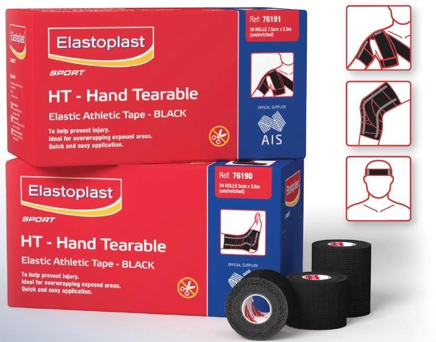 Elastoplast Sport Black Hand Tearable 7.5cm x 3.5m