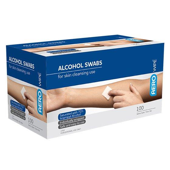Aero Alcohol Swab - Box 100