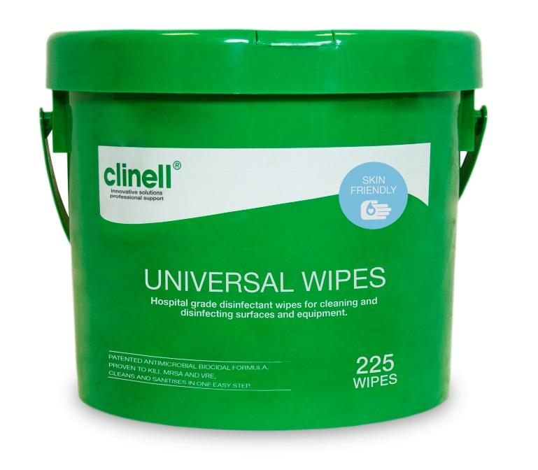 Clinell Universal Wipes - Tub 225