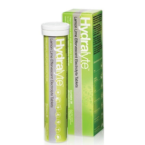 HYDRALYTE TABS, LEMON/LIME- Tube
