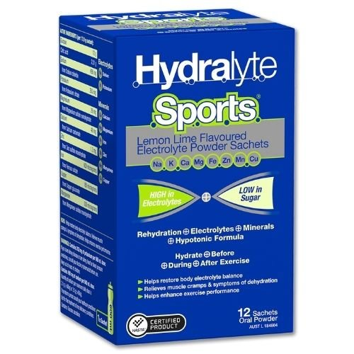 HYDRALYTE SPORTS L/LIME SACHETS