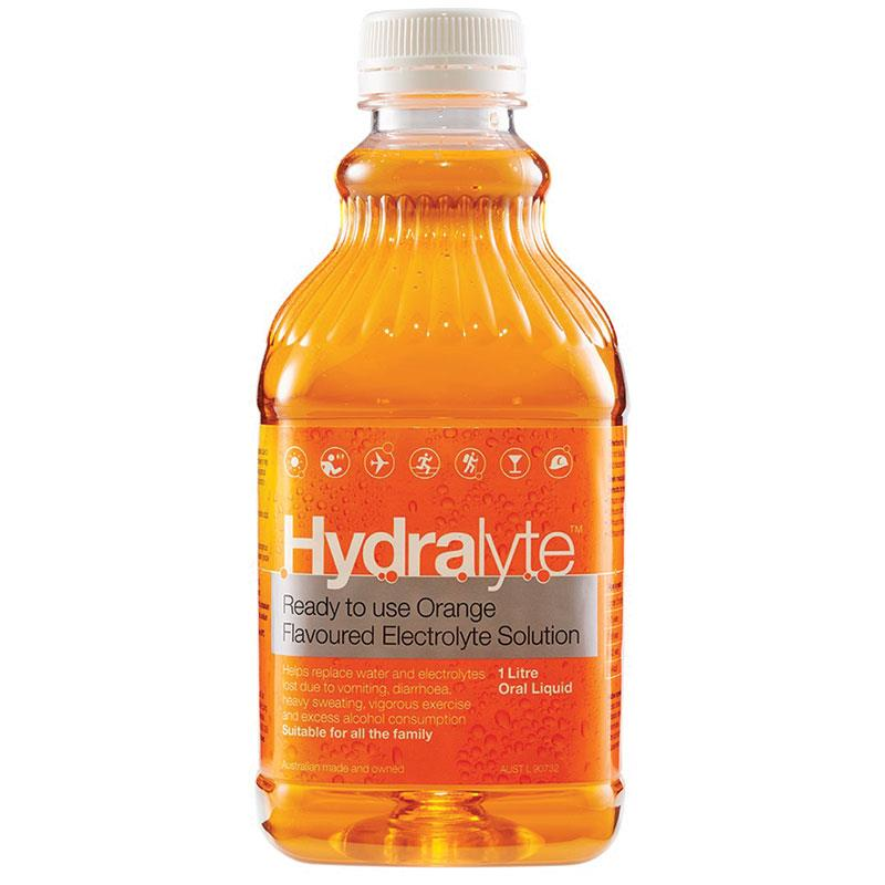 Hydralyte Orange Liquid 1l Hydration Nutrition