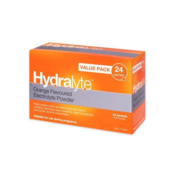 HYDRALYTE SACHET ORANGE VALUE PACK 24 x 24 CTN 576