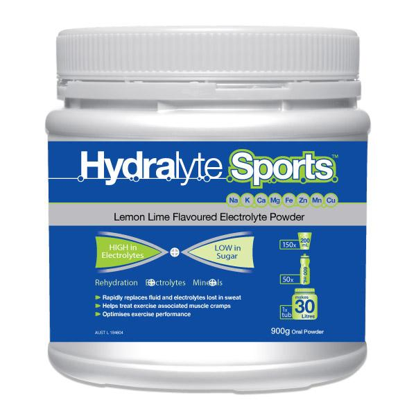 HYDRALYTE SPORT TUB 900G LEMON/LIME