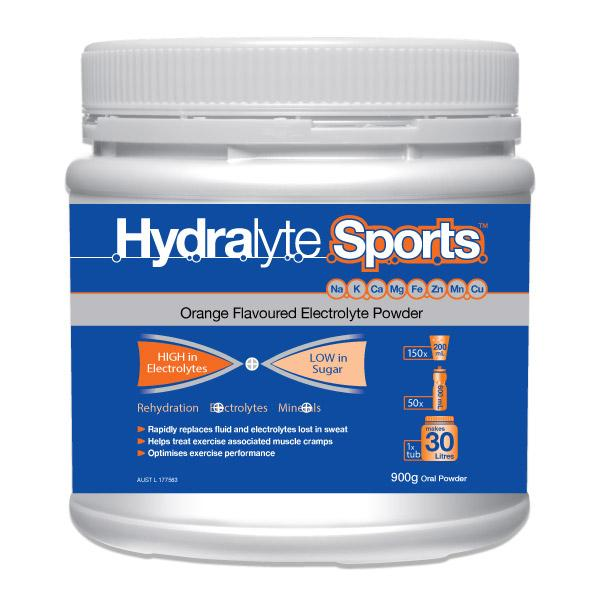 Hydralyte Sport Orange Tub 900g