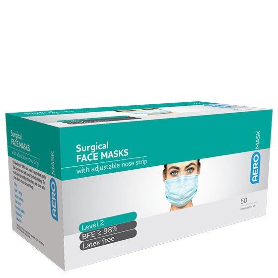 AeroMask Level 2 Earloop Mask Box /50