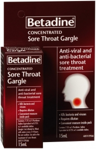 Betadine Concentrated Gargle 15ml