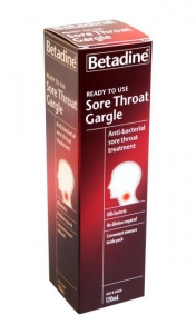 BETADINE READY TO USE SORE THROAT GARGLE 120ml - Click for more info