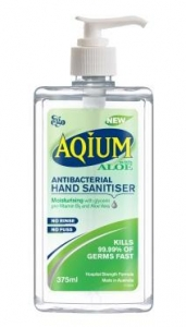 Ego Aqium ANTIBACTERIAL HAND GEL WITH ALOE VERA- 375ml - Click for more info