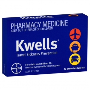KWELLS TRAVEL SICKNESS TABLETS 10s - Click for more info