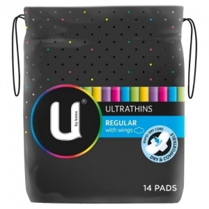 Kotex Regular Ultrathin Pads - Pack 14
