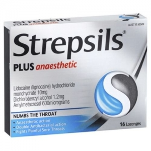STREPSILS PLUS LOZ 16s ANAESTHETIC - Click for more info