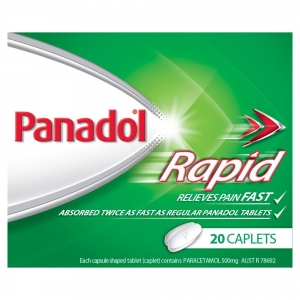 Panadol Rapid Caplets - Pack 20 - Click for more info
