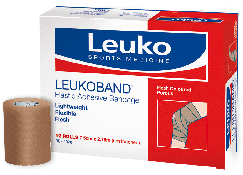 LEUKOBAND ELASTIC ADHESIVE BANDAGE - WHITE - 75mm - Click for more info