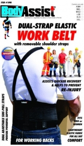 Body Assist Back Support With Shoulder Straps - Click for more info
