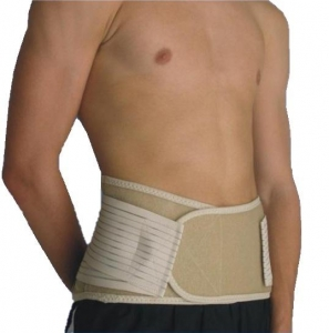 Body Assist Lightweight Elastic Lower Back Belt Beige - Click for more info