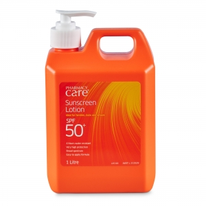 Sunscreen Lotion Pharmacy Care 50+ 1 Litre