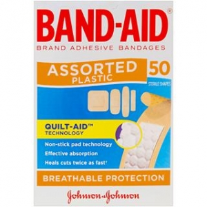 Band-Aid Plastic Assorted- Box 50