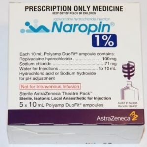 Naropin 1% Duofit 10ml - Pack 5 - Click for more info