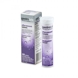 Gastrolyte Effervescent Blackcurrant Tablets - Pack 20 - Click for more info