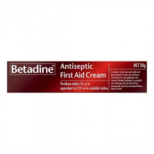 BETADINE ANTISEPTIC FIRST AID CREAM 20g - Click for more info