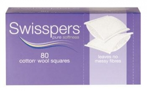 Swisspers COSMETIC SQUARES- Box of 80 - Click for more info
