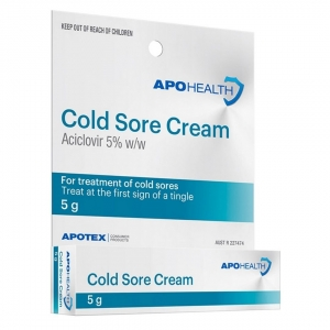 Aph Cold Sore Cream Aciclovir Cream 5gm - Click for more info