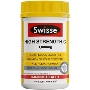Swisse Ultiboost High Strength Vitamin C Tablets - Pack 150 - Click for more info