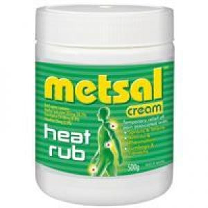 METSAL HEAT RUB CREAM 500g - Click for more info
