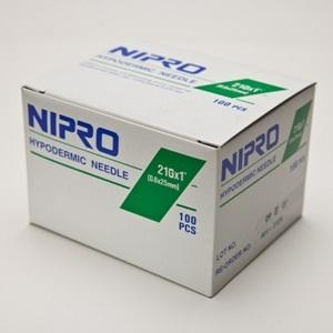 Nipro Needles 21g x 25mm - Box 100 - Click for more info