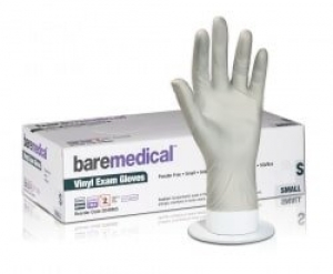 Bare Medical Gloves Vinyl Powder Free Large