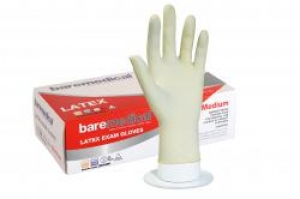 Bare Medical Gloves Latex Powder Free Medium