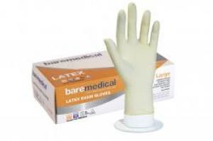 Bare Medical Gloves Latex Powder Free Large
