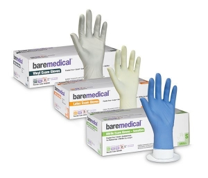 Bare Medical Gloves Nitrile Powder Free Medium - Box 200