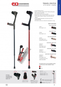 OSSENBERG  Travel Forerarm  Crutch Right - Click for more info