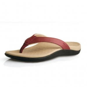 Orthaheel SONOMA THONGS- Red/Beige - Click for more info