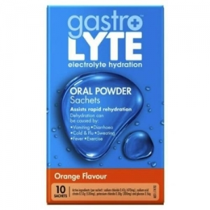 Gastrolyte Orange Sachets - Box 10 - Click for more info