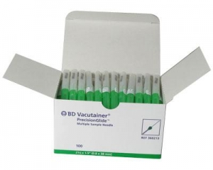 BD VACUTAINER NEEDLES, GREEN- 21G x 1.5in   Box 100 - Click for more info