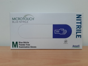 Ansell Micro-Touch Powder Free Nitrile Gloves Small - Box 200 (4004 Medium)