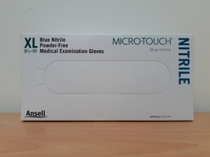 Ansell Micro-Touch Powder Free Nitrile Gloves X-Large - Box 200 - Click for more info