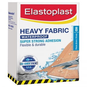 Elastoplast Heavy Duty Fabric Strips 6cm x 10cm - Pack 8 - Click for more info