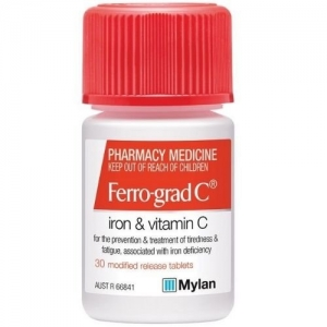 Ferro-Grad C Tablets - Pack 30 - Click for more info