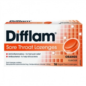 Difflam Sugar Free Lozenges - Pack 16