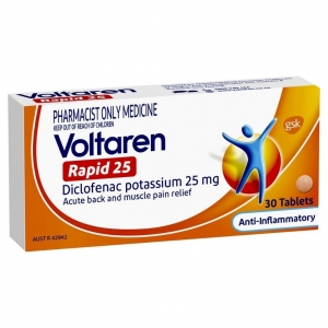 Voltaren Rapid 25mg Tablets - Pack 20
